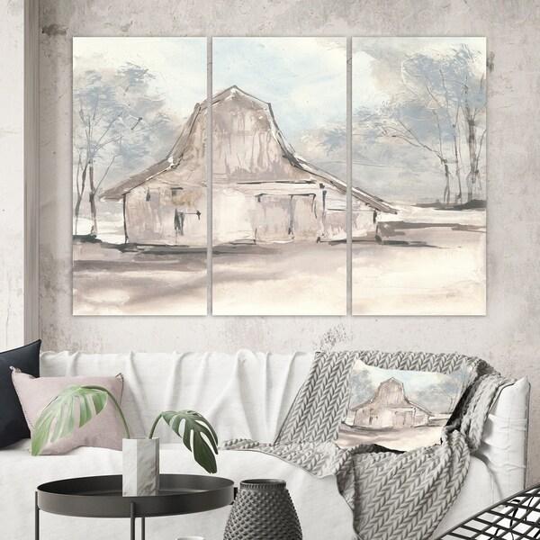 Designart 'Farmhouse Barn Grey VI' Modern Farmhouse Canvas Artwork