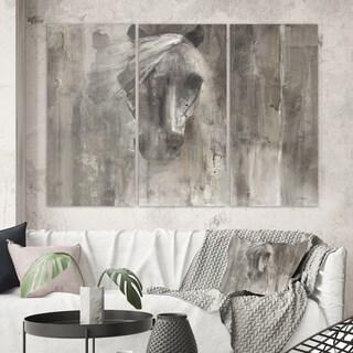 Designart 'Farmhouse Horse' Modern Farmhouse Canvas Artwork