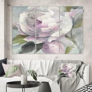 Designart 'Twilight Peony' Shabby Chic Gallery-wrapped Canvas