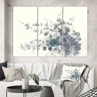 Designart 'Grey  Watercolor Flower II' Traditional Canvas Artwork