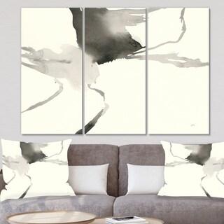 Designart 'minimal geometric Gesture I' Transitional Canvas Wall Art