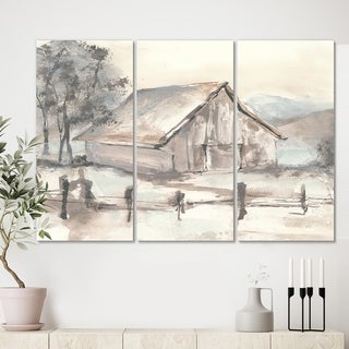 Designart 'Farmhouse Barn Grey VII' Modern Farmhouse Gallery-wrapped Canvas