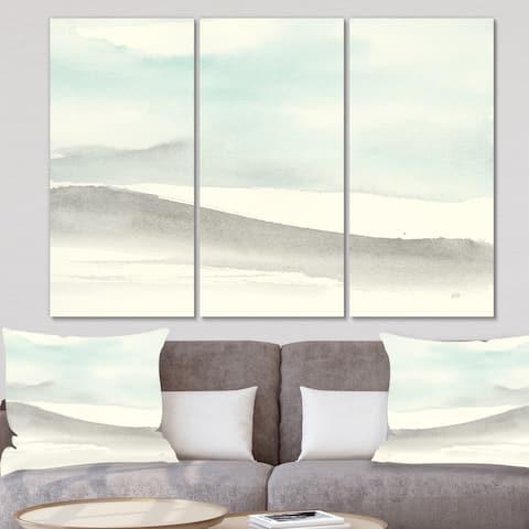 Designart 'minimal geometric Zen I' Transitional Canvas Art