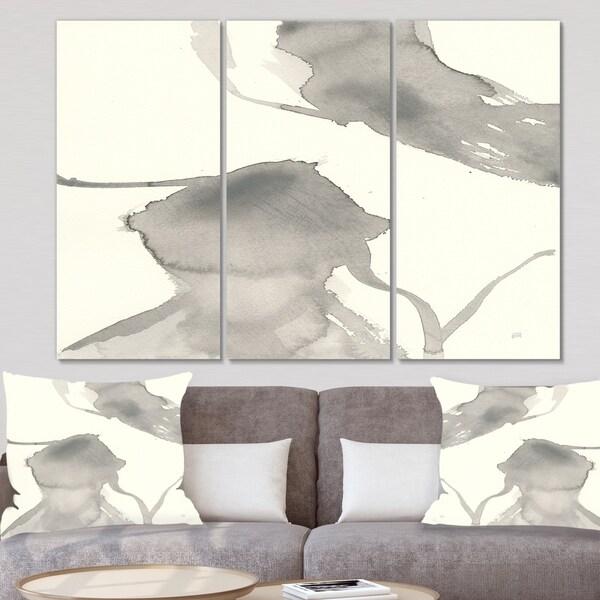 Designart 'minimal geometric Zen IV' Transitional Canvas Artwork