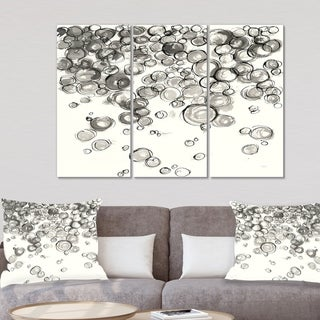 Designart 'Simple Bubbles IV' Mid Century Modern Canvas Wall Art