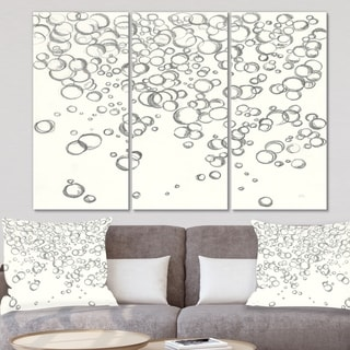 Designart 'Simple Bubbles I' Mid Century Modern Gallery-wrapped Canvas