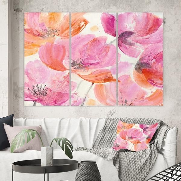 Designart 'Shabby Flower III' Shabby Chic Canvas Wall Art