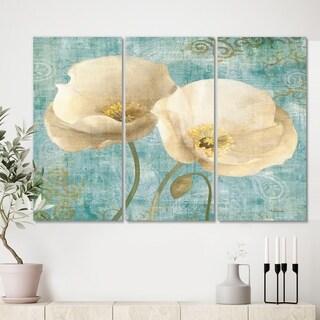 Designart 'bouquet Poppies on Paisley II' Cottage Canvas Artwork