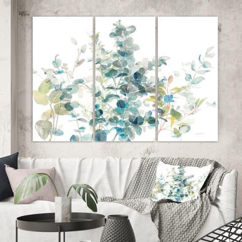 Porch & Den 'Eucalyptus Natural Element' Farmhouse Canvas Art
