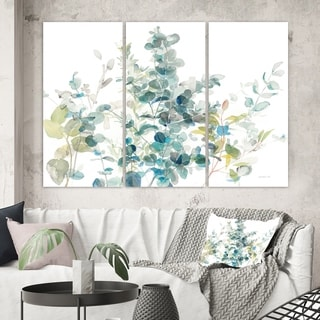 Designart 'Eucalyptus Natural Element' Farmhouse Canvas Art