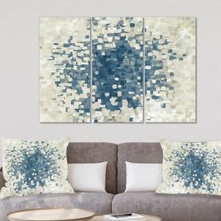 Designart 'Geometric Blue Spots' Modern Canvas Artwork