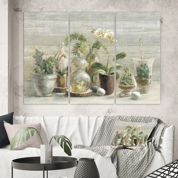 Designart 'Composition of Orchids' Traditional Canvas Artwork
