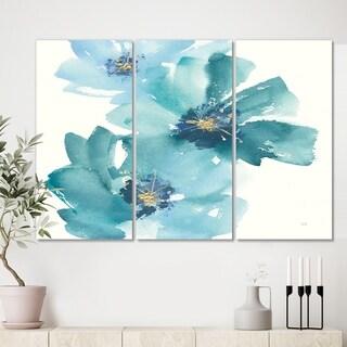 Designart 'Blue Cosmos Indigo I' Farmhouse Canvas Artwork