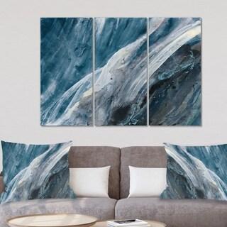 Designart 'Splash Blue Indigo' Modern Canvas Artwork