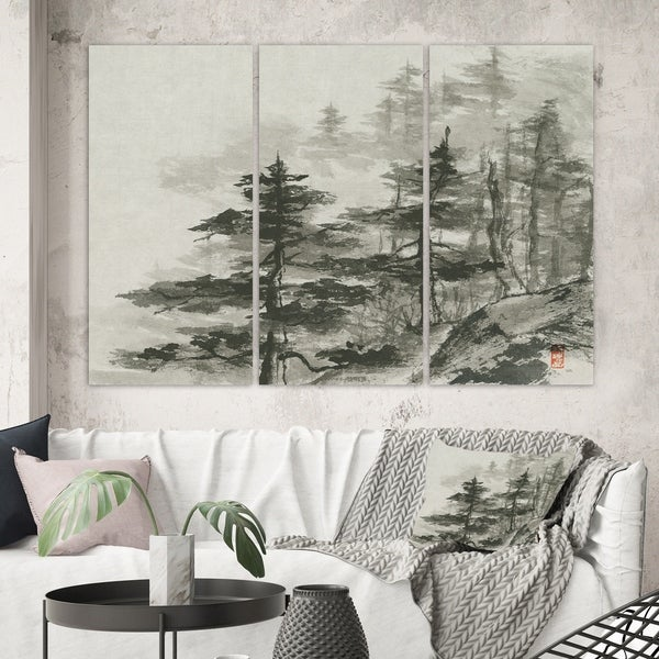 Designart 'Asian Forest' Cabin & Lodge Gallery-wrapped Canvas