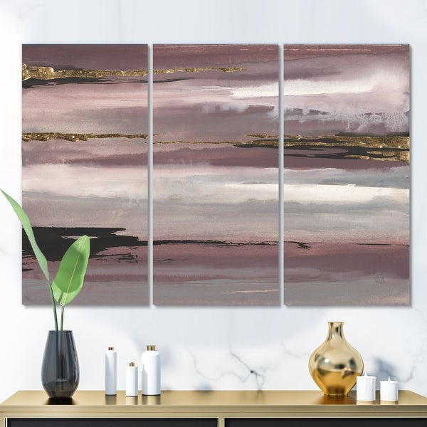 Designart 'Purple Glam Storm II' Glam & Shabby Chic Canvas Art