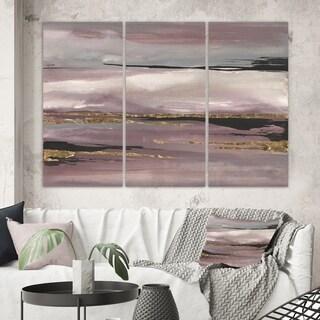 Designart 'Purple Glam Storm III' Glam & Shabby Chic Canvas Wall Art