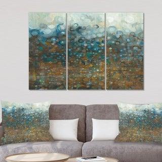 Designart 'Blue and Bronze Dots' Modern Canvas Art
