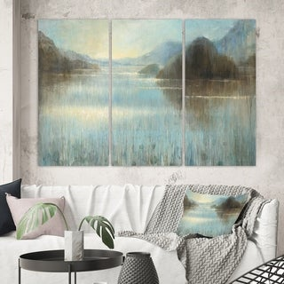 Designart 'Vue from Lase House' Lake House Canvas Wall Art