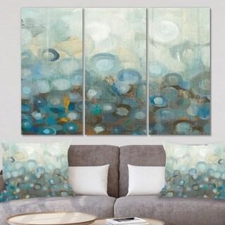 Designart 'Blue and Bronze Dots on Glass II' Modern Canvas Art