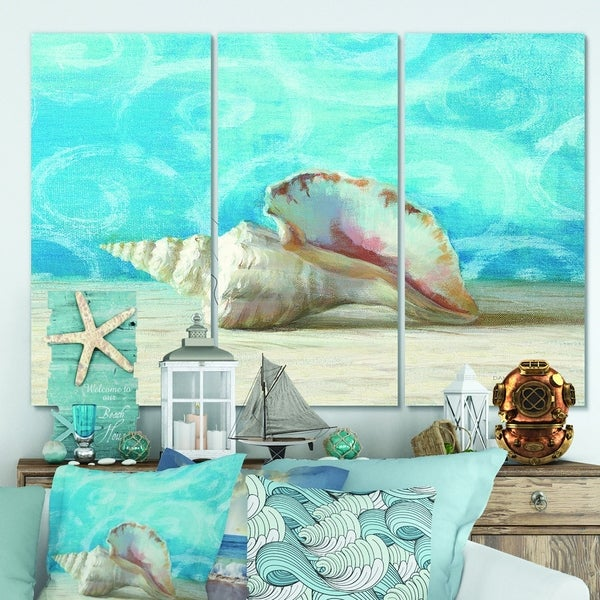 Designart 'Composition from the Sea I' Nautical & Coastal Canvas Wall Art
