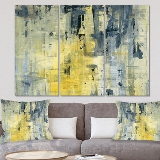 Designart 'Yellow and Black Element' Modern Canvas Art