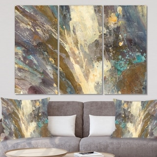Designart 'Fire and Ice Minerals IV' Farmhouse Canvas Wall Art