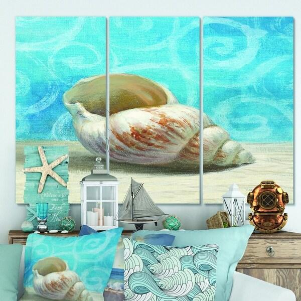 Designart 'Composition from the Sea IV' Nautical & Coastal Canvas Art