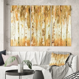 Designart 'The Forest I Fall Crop' Glam Canvas Wall Art