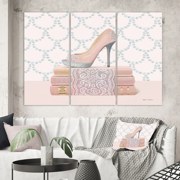 Designart 'Fashion and Glam Shoes II' Posh & Luxe Canvas Wall Art