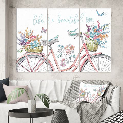 Porch & Den 'Spring Bike Bouquet' Canvas Artwork