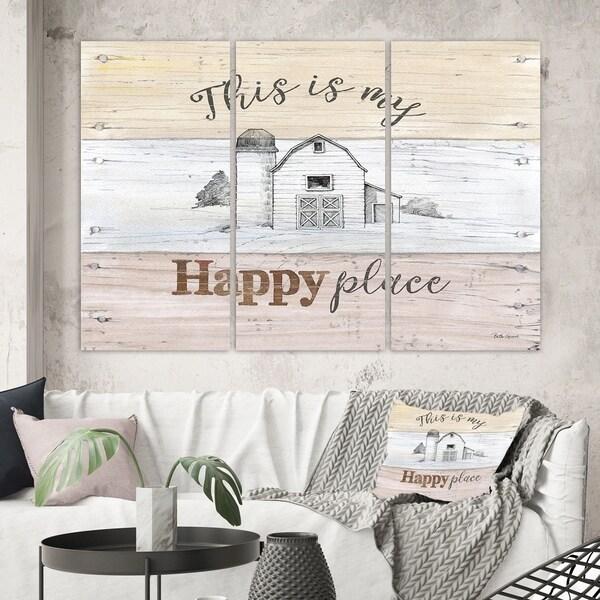 Designart 'Farmhouse Moment Barns' Farmhouse Gallery-wrapped Canvas