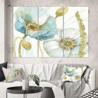 Designart 'My Greenhouse Cottage Flowers III' Traditional Canvas Wall Art