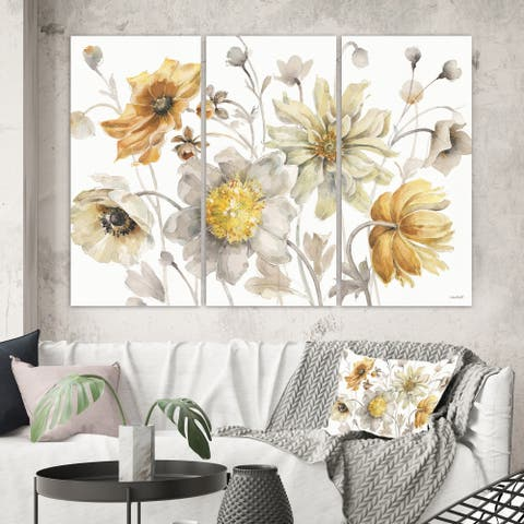 The Gray Barn 'Fields of Gold Watercolor Flower VII' Traditional Canvas Art