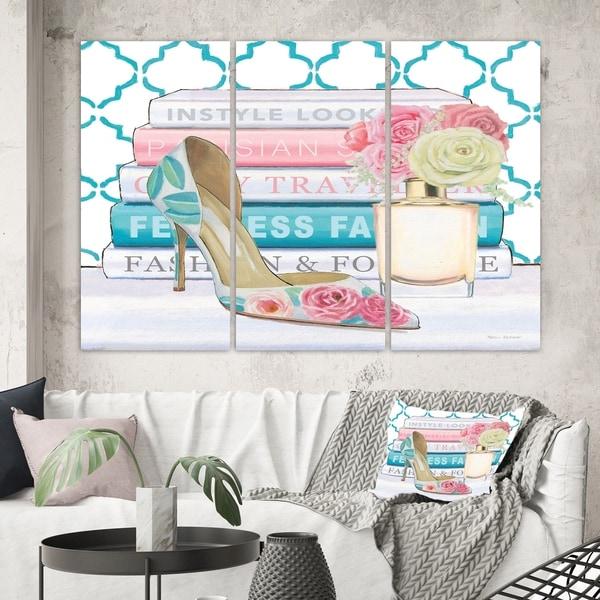 Designart 'Pink Fashion high heels II' Posh & Luxe Canvas Art
