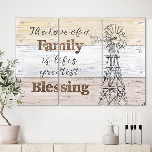 Designart 'Farmhouse Moment windmills' Farmhouse Canvas Art