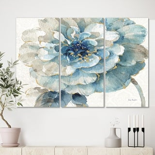 Designart 'Indigold Gold Country FLower' Cottage Country Canvas Artwork