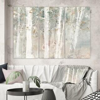 Designart 'A Woodland Walk into the Forest V' Modern Farmhouse Gallery-wrapped Canvas