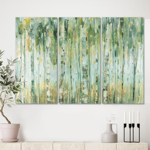 The Gray Barn 'Golden Birch Forest V' Modern Farmhouse Gallery-wrapped Canvas