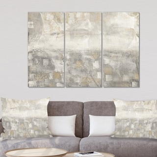 Designart 'Gray Abstract Watercolor' Contemporary Gallery-wrapped Canvas