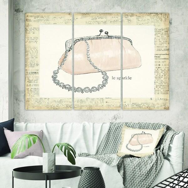 Designart 'Glamorous Sparkle Purse I' Fashion Canvas Wall Art