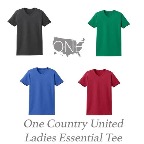 One Country United Ladies Short Sleeve Essential Tee