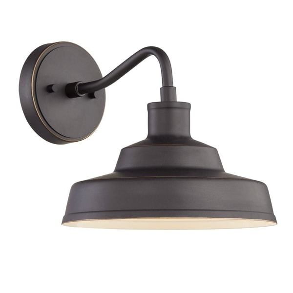 Moore 1-light Aged Bronze Outdoor LED Wall Sconce. Opens flyout.