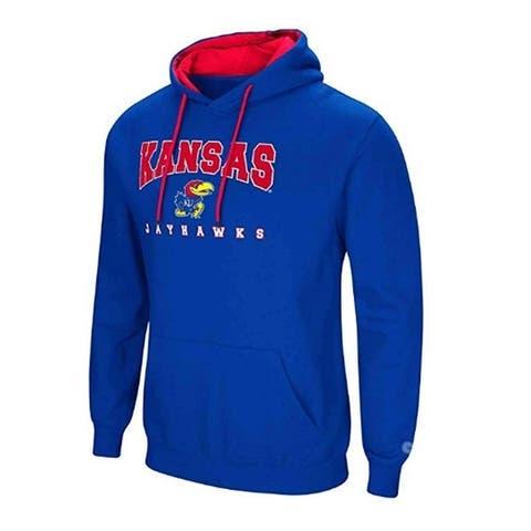 Colosseum Men's Kansas Jayhawks Pullover Hoodie 2XL - Blue