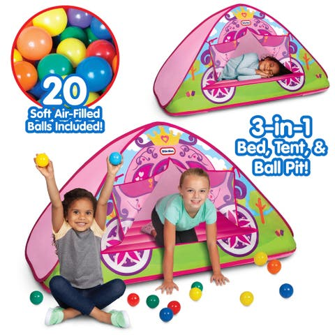Little Tikes Enchanted Princess Carriage 3-in-1 Bed, Tent, & Ball Pit
