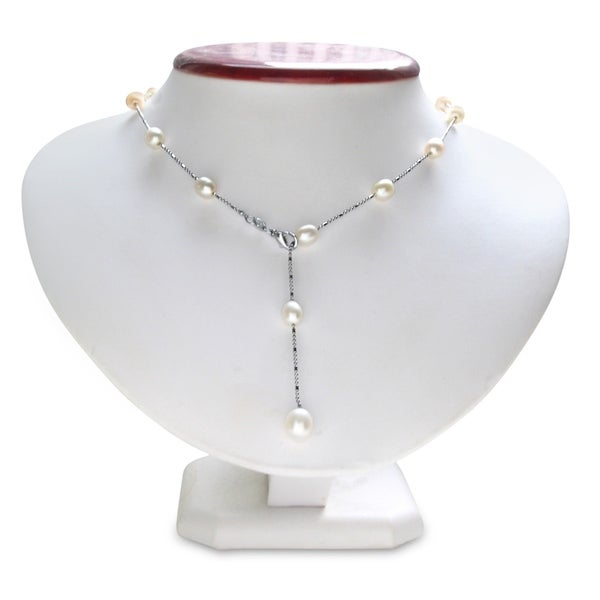 18 Inch Pearl Lariat Necklace