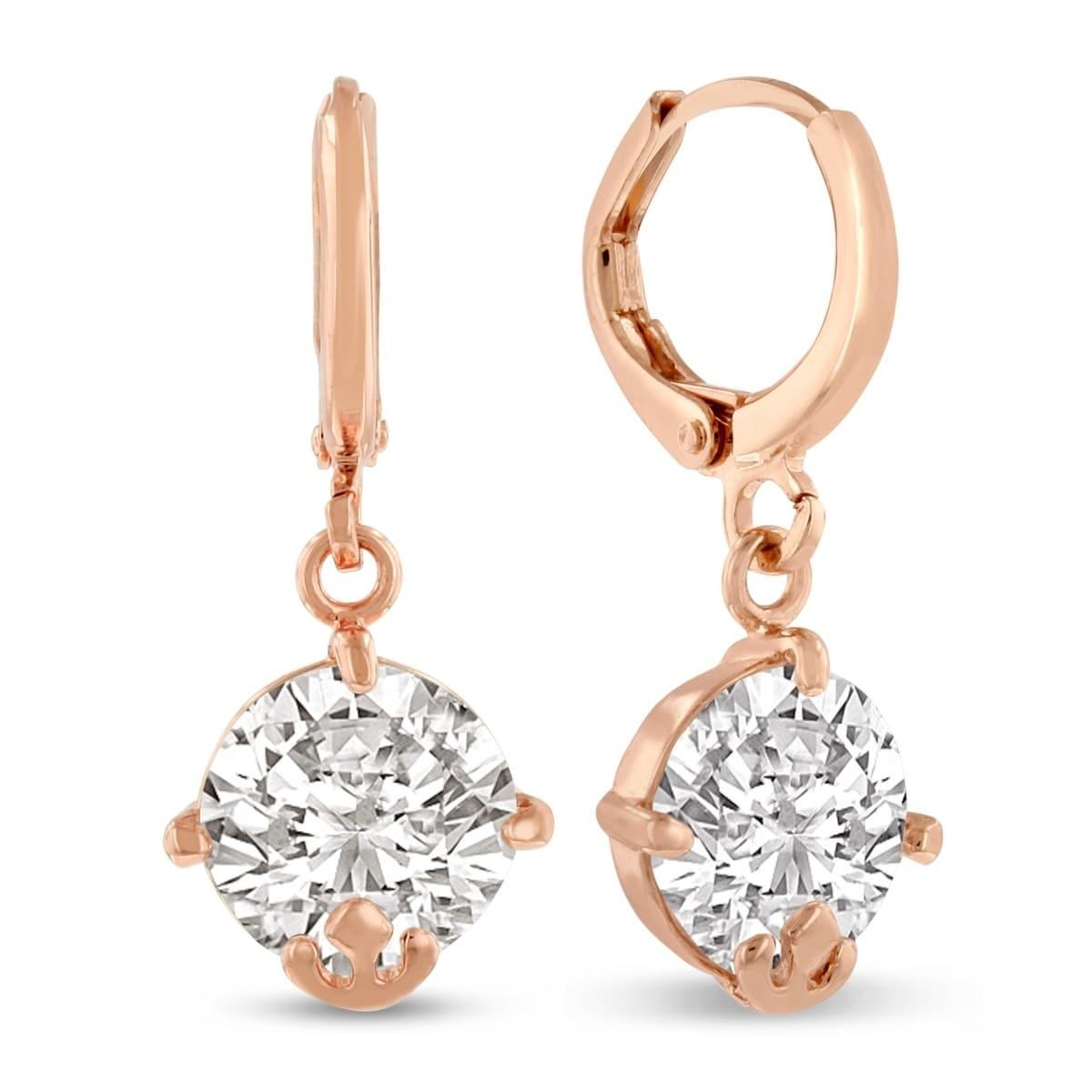 Szul 5 Carat Swarovski Elements Crystal Hoop Earrings