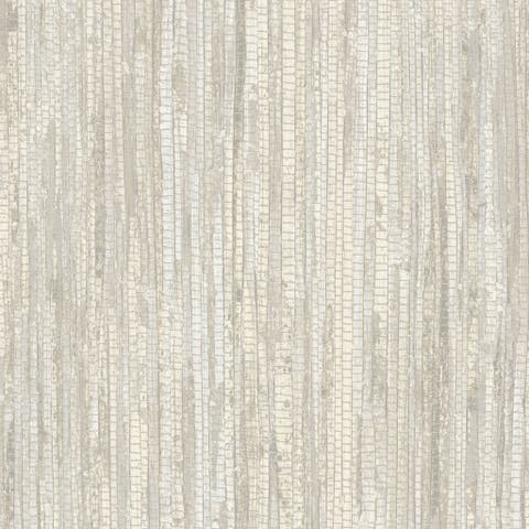 Rough Grass Wallpaper, Grasscloth in Cream, Beige, Khaki, Hazelnut Cream