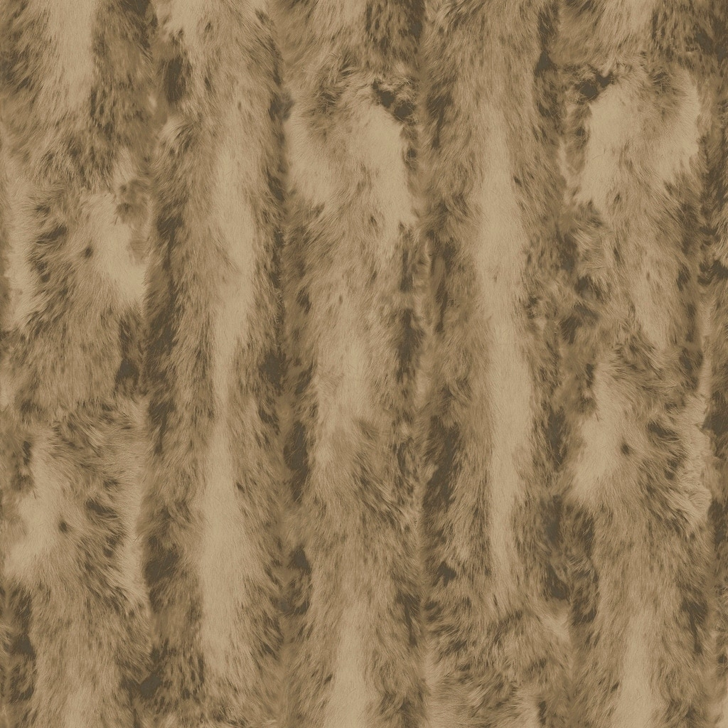 Chinchilla Fur Wallpaper Faux Texture In Brown Khaki Wheat