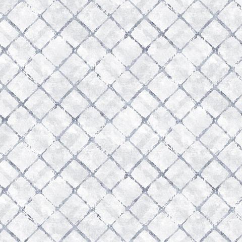 Chicken Wire Wallpaper, Texture in Grey, Blue, Navy, Dolphin Blue